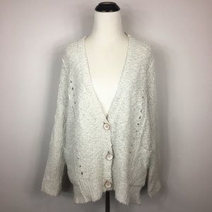 Free People Wood Button Cardigan XS